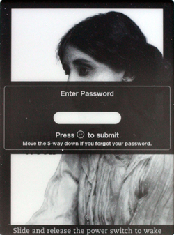 Kindle 2.5 Enter Password prompt